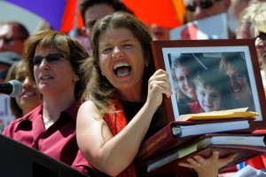 We testified and rallied with One Colorado and other supporters of equality.  Photo by Craig Walker, Denver Post