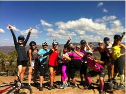 Clients of Hot Mamas, on a workout retreat