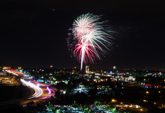AURORA, CO - JULY 4: The city of Aurora celebrates Independence Day with music, vendors, food and fireworks at the Aurora Municipal Center on July 4, 2015, in Aurora, Colorado. (Photo by Daniel Petty/City of Aurora)